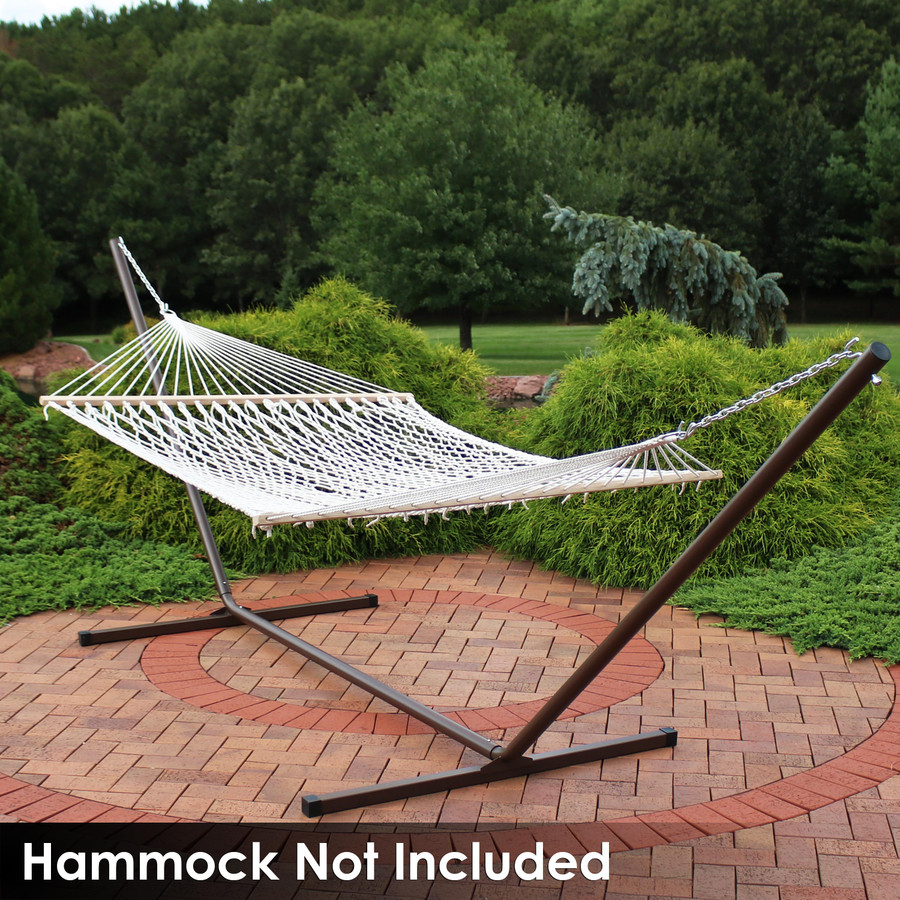 Rope Spreader Bar Hammock on Bronze Stand (Hammock Not Included)