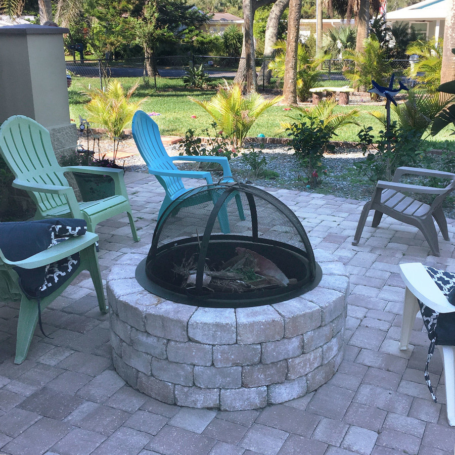 Easy Access Fire Pit Spark Screen
