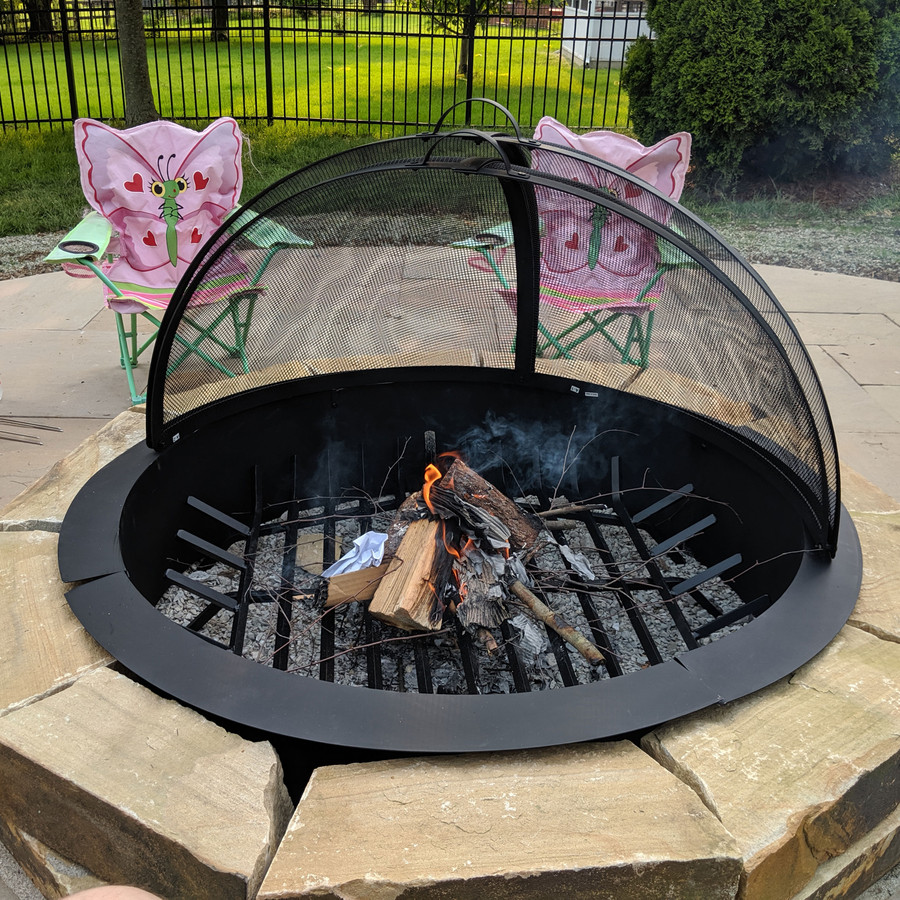 Sunnydaze Easy Access Fire Pit Spark Screen