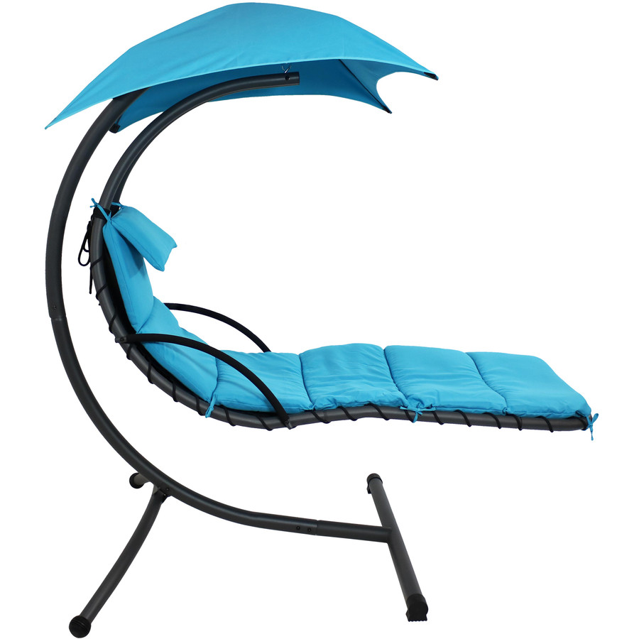 Sunnydaze Floating Chaise Lounge Chair, 260 Pound Capacity,  Multiple Color Options