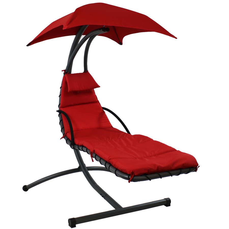 Red Floating Chaise Lounge Chair