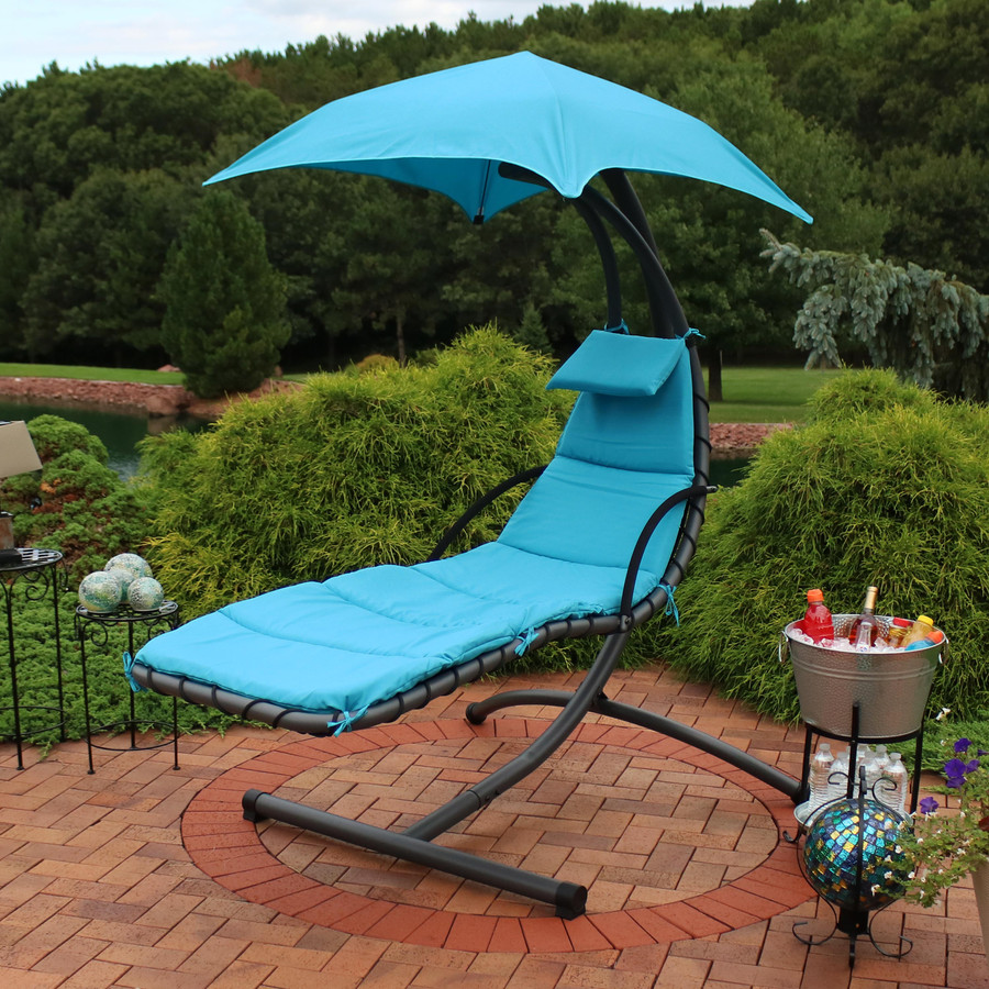 Teal Floating Chaise Lounge Chair