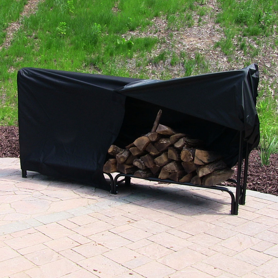 Black Firewood Log Rack Cover