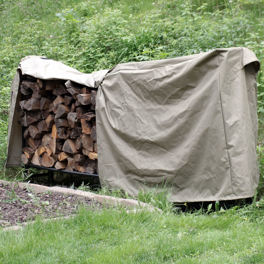 Khaki Firewood Log Rack Cover