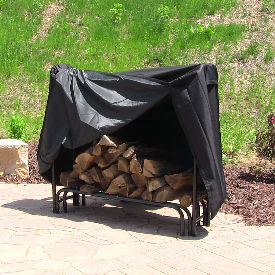 Sunnydaze Heavy Duty Firewood Log Rack Cover, 5 Foot