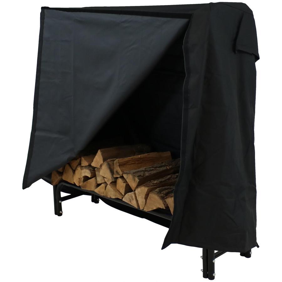 Heavy Duty Firewood Log Rack Cover, Black