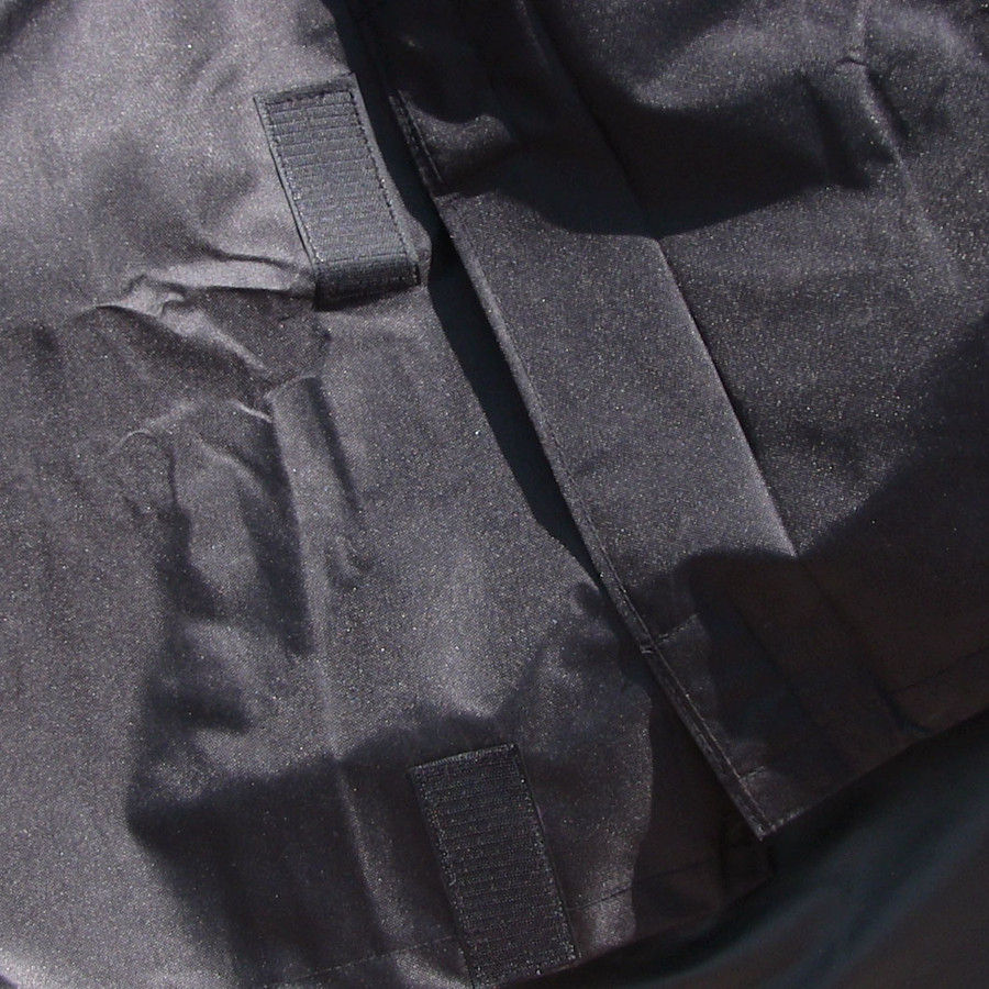 Closeup of Heavy Duty Firewood Log Rack Cover, Black