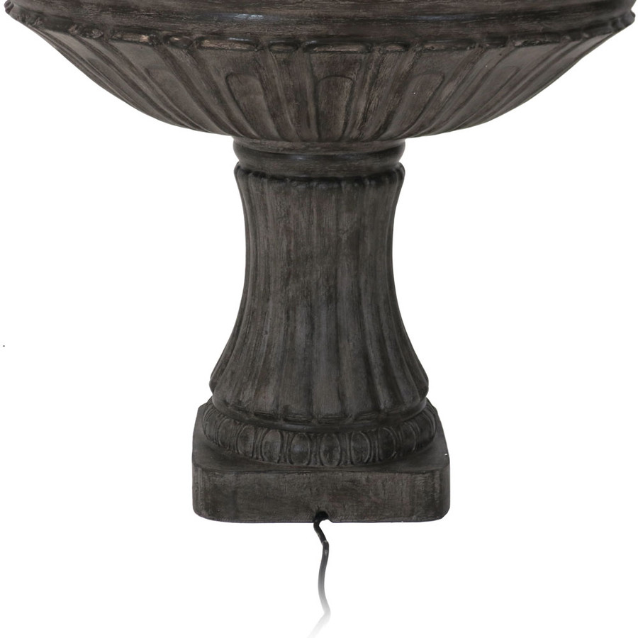 Closeup of Bottom of Classic 3 Tier Designer Outdoor Water Fountain