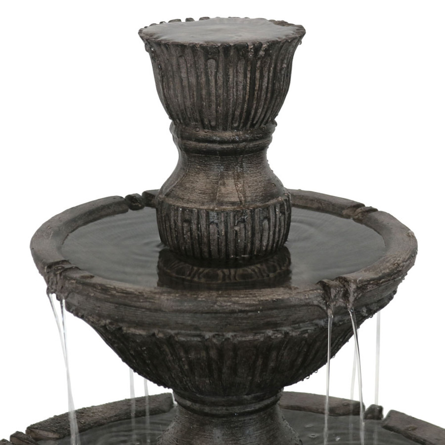 Top View of Classic 3 Tier Designer Outdoor Water Fountain
