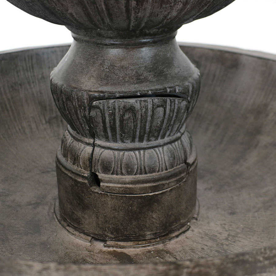 Closeup of Classic 3 Tier Designer Outdoor Water Fountain