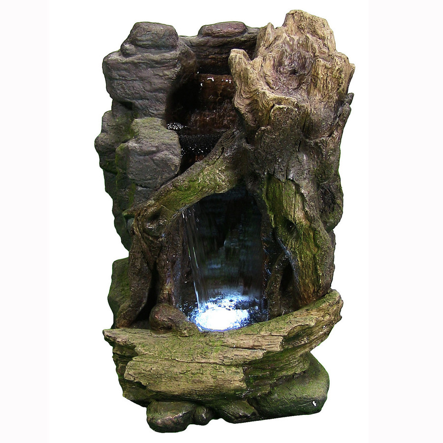 Rustic Cave Water Fountain w/LED Lights by Sunnydaze Decor