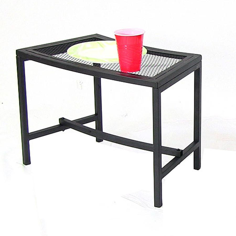 Black Mesh Patio Side Table