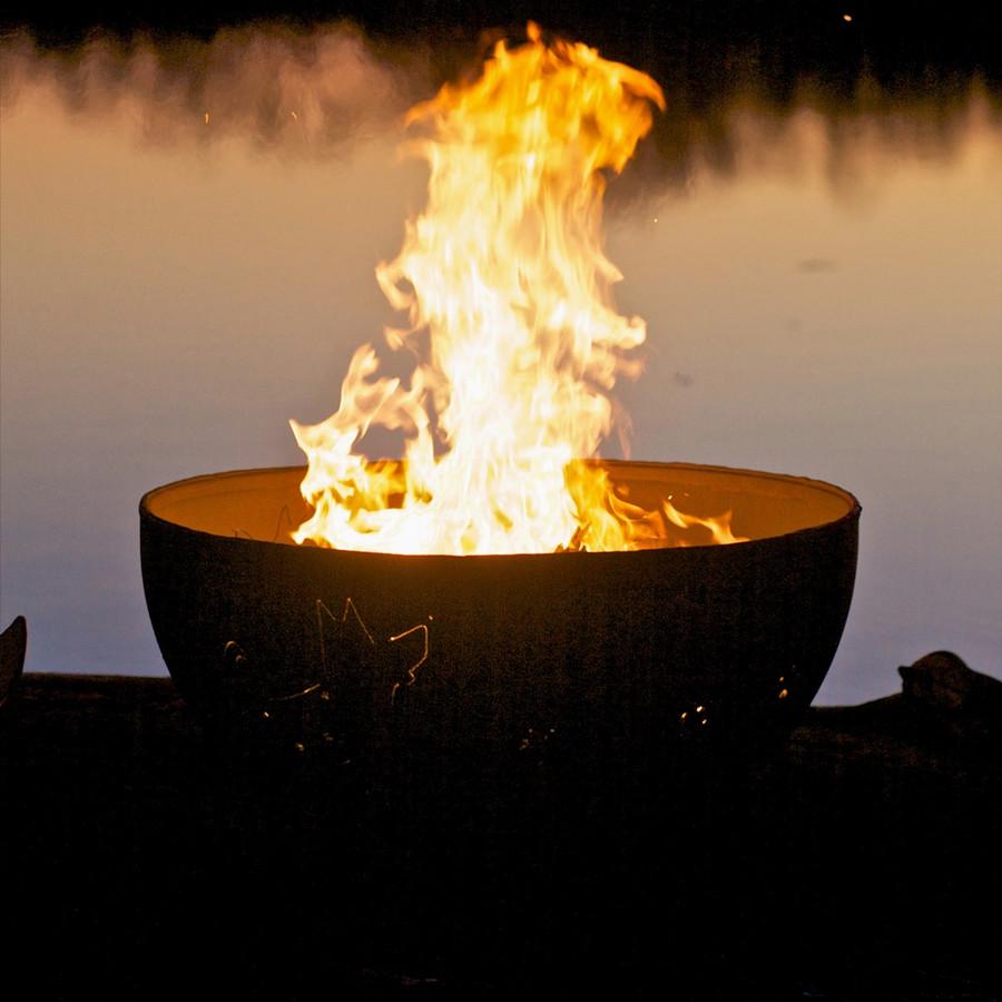 Funky Dog Fire Pit by Fire Pit Art