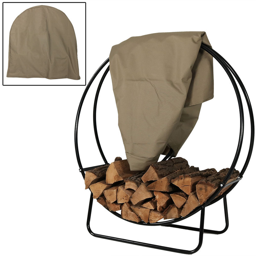 Sunnydaze Steel Firewood Log Hoop, Size and Color Options Available