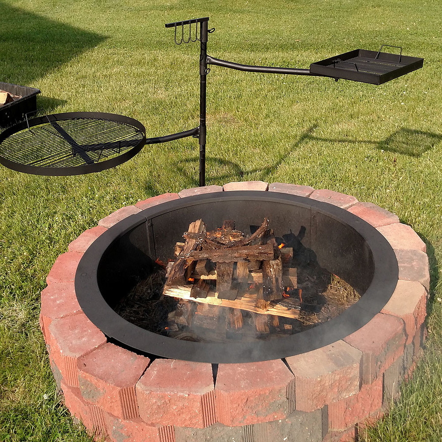 Sunnydaze Dual Campfire Cooking Swivel Grill System