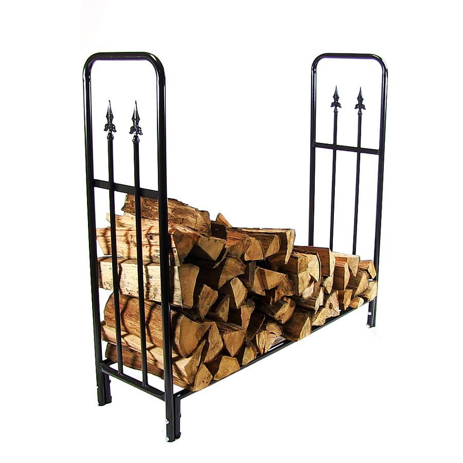4' Log Rack with Firewood