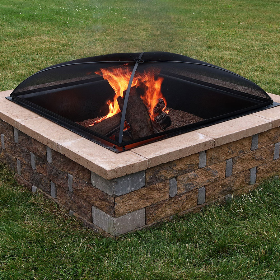 Sunnydaze Square Fire Pit Spark Screen