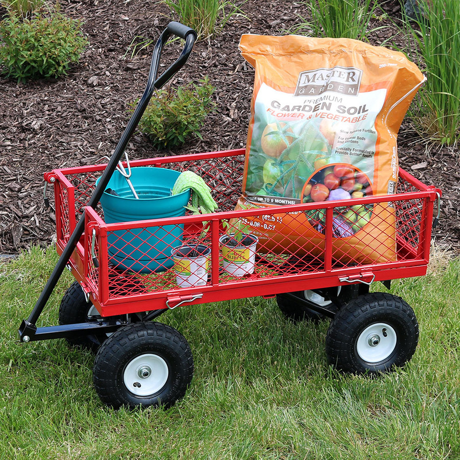 Red Garden Cart Outdoors