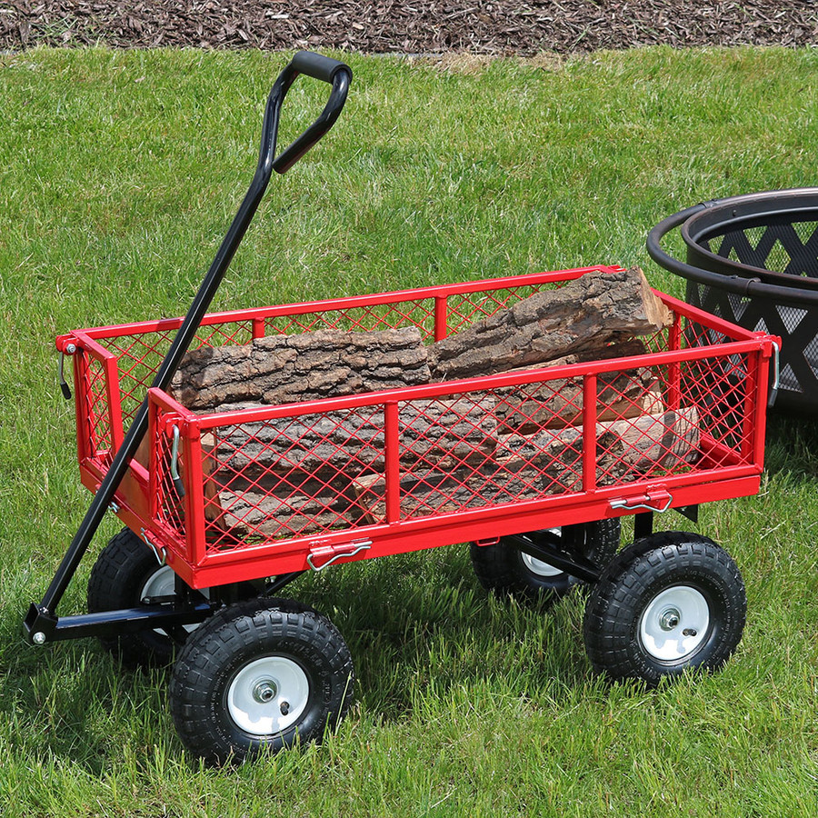 Red Garden Cart Outdoors