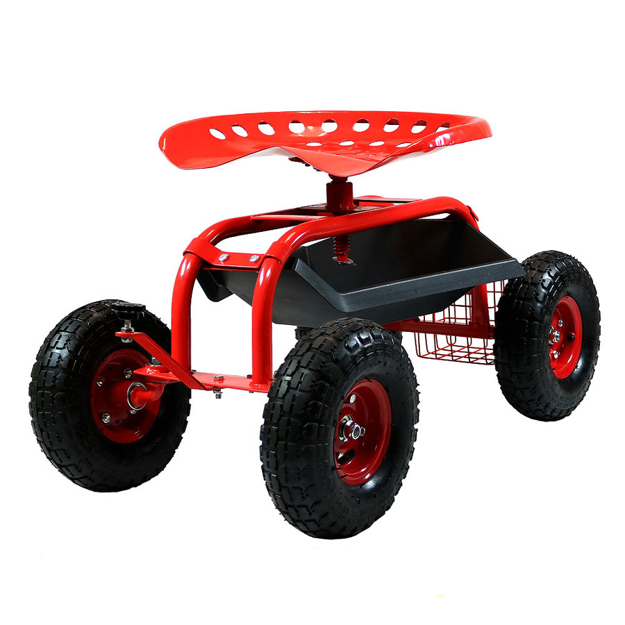 Two-Tone Red-Red with Dark Red Tire Rims