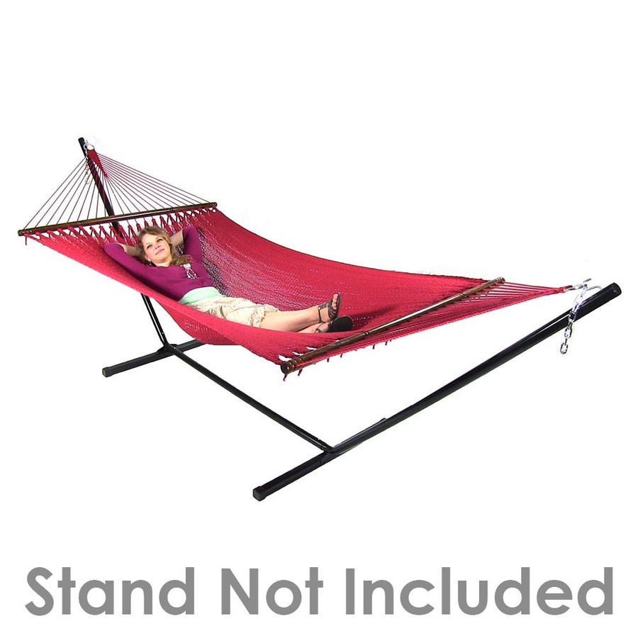 Sunnydaze Large 2 Person Soft-Spun Polyester Rope Hammock with Spreader Bars, 600 Pound Capacity