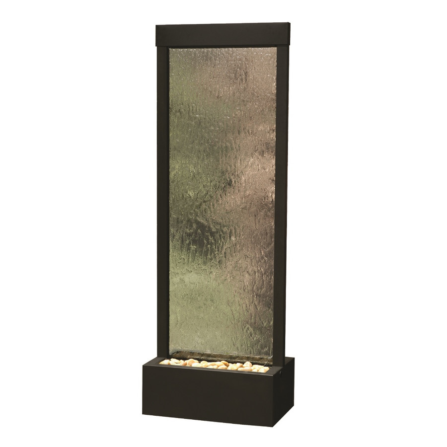4' Black Onyx Gardenfall with Clear Glass