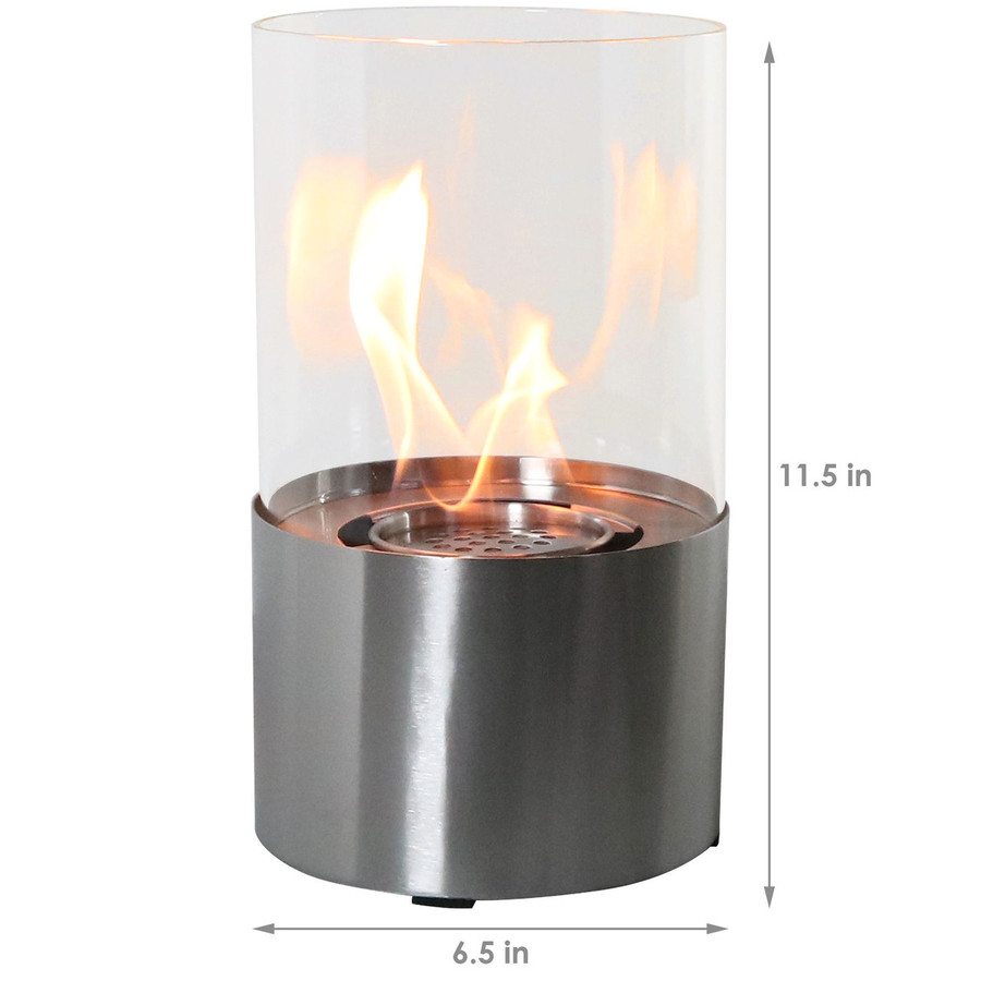 Dimensions of Stainless Steel Tabletop Fireplace