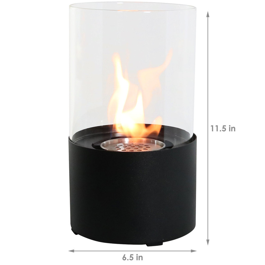 Dimensions of Black Tabletop Fireplace