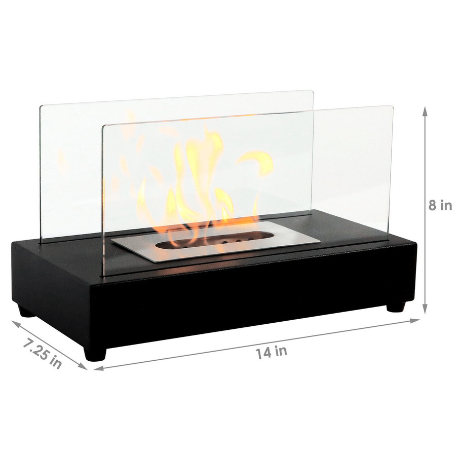Dimensions of Black Fireplace