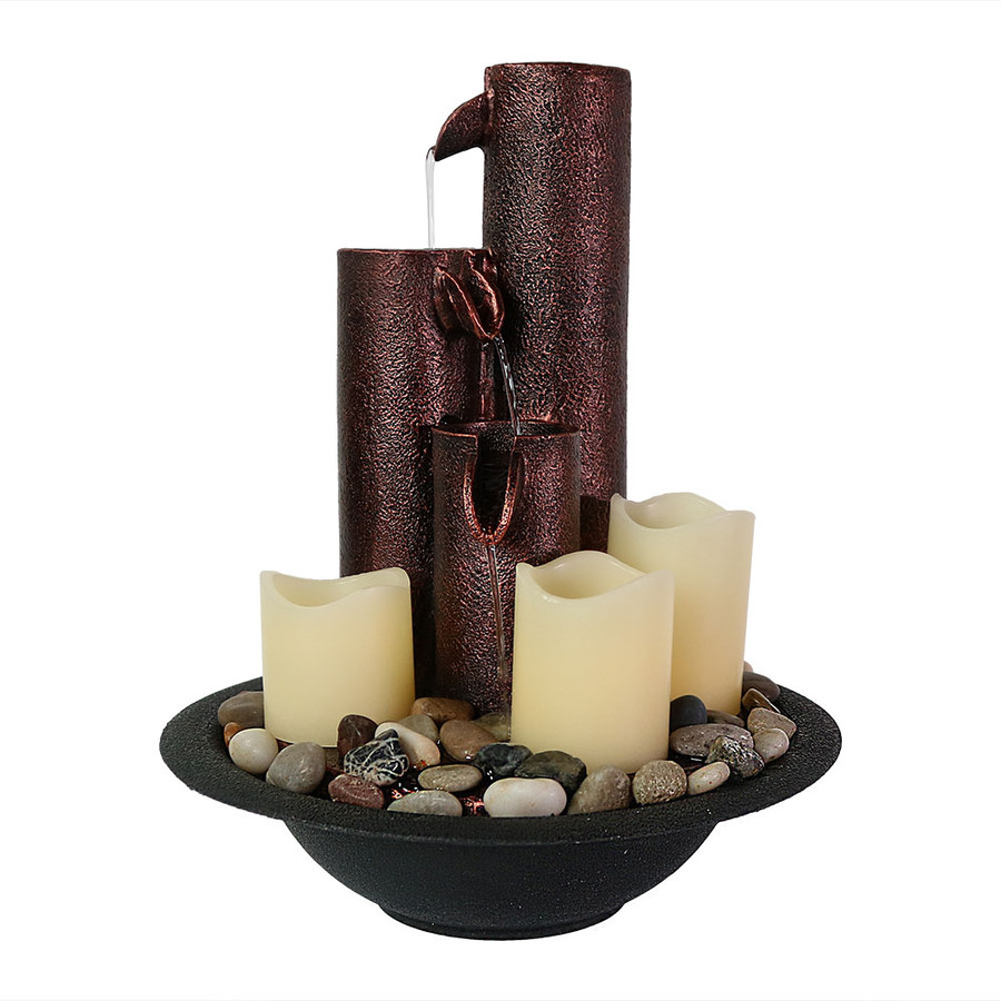 Three Tiered Column Tabletop Fountain