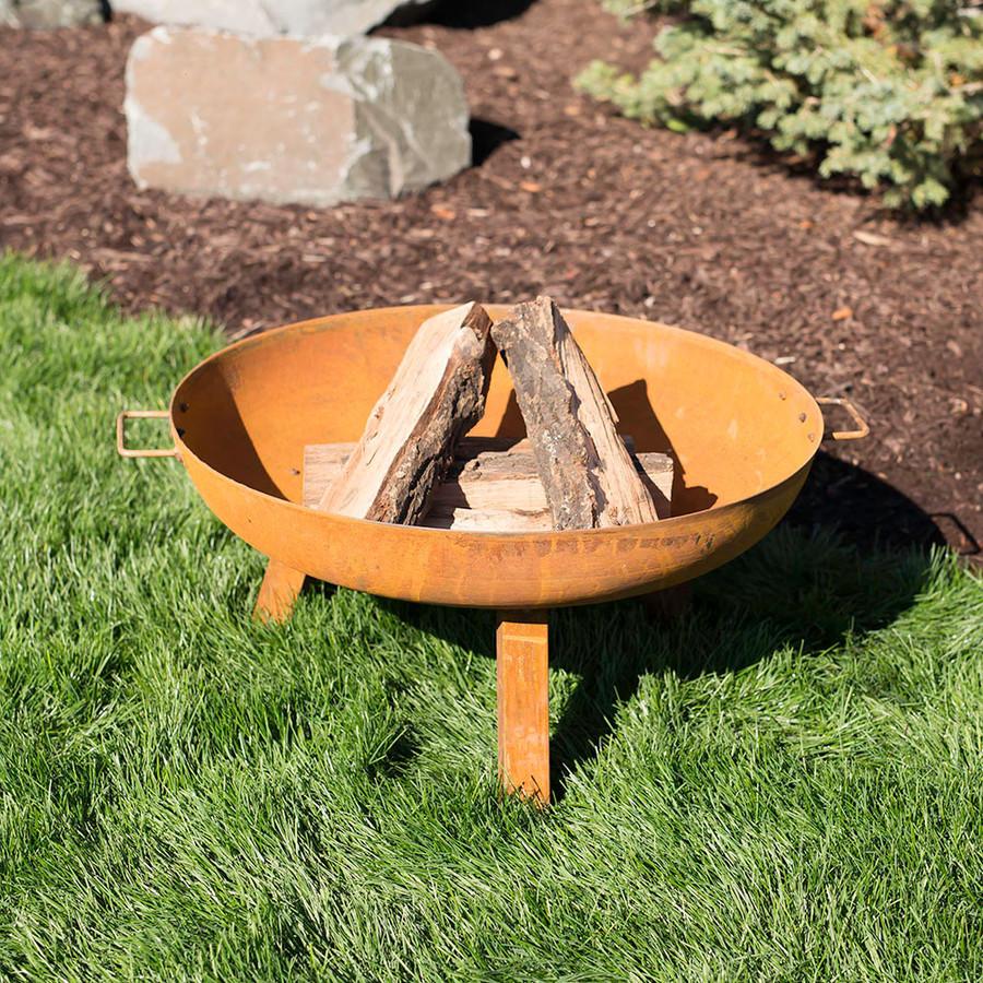 """30"""" Cast Iron Fire Pit Bowl"""