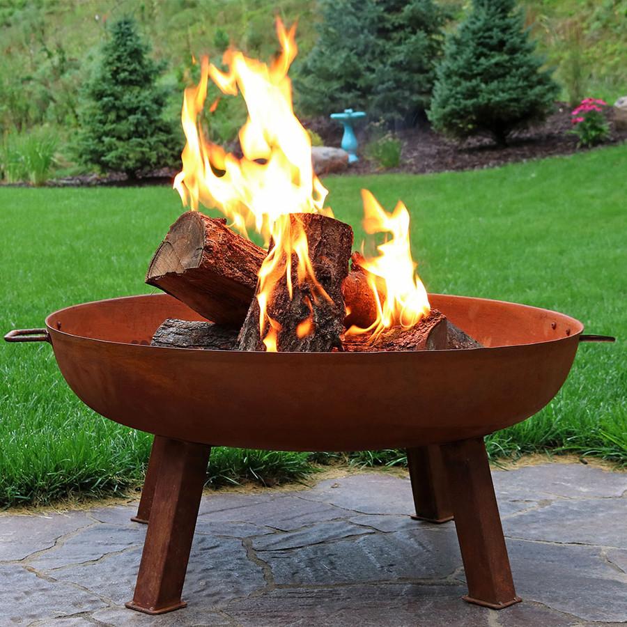 """34"""" Cast Iron Fire Pit Bowl"""