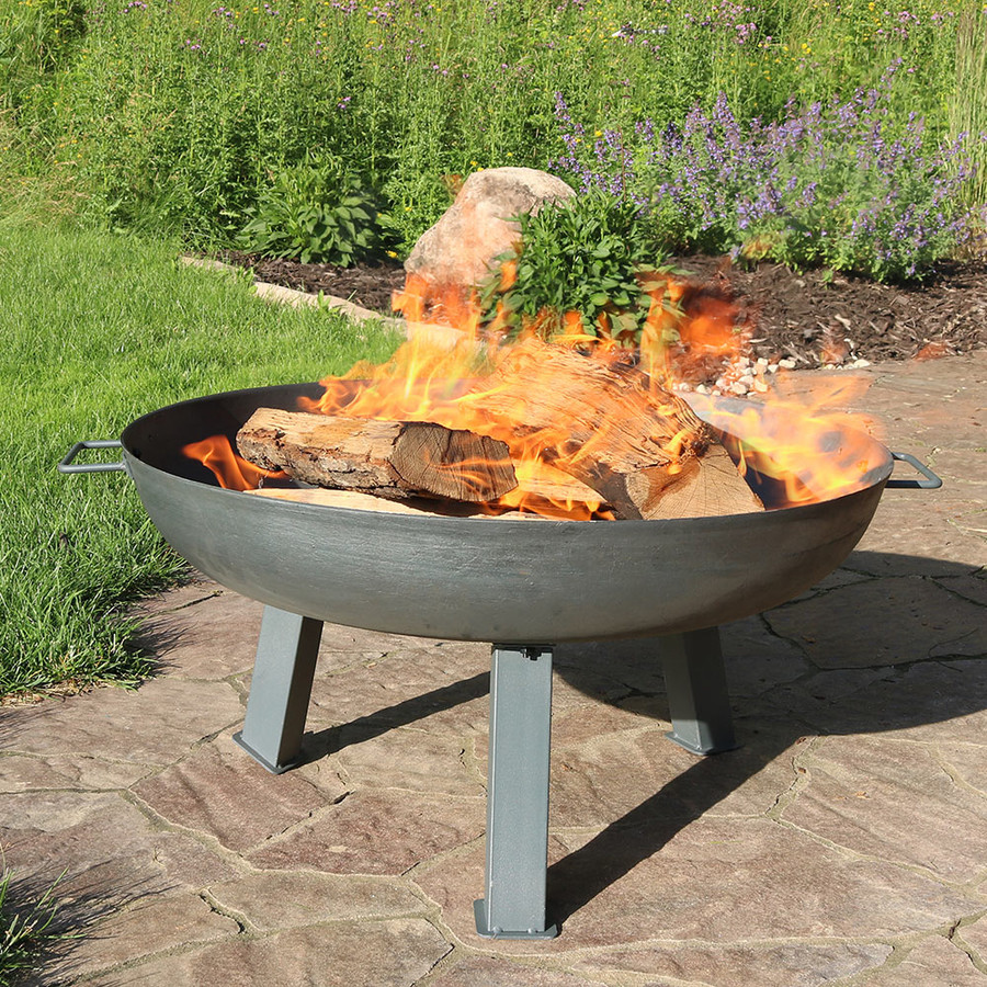 "30"" Cast Iron Steel with Fire"