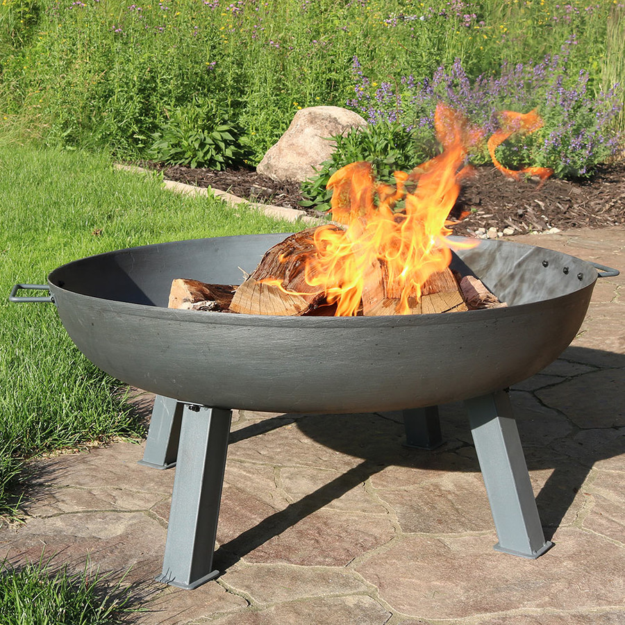 """34"""" Cast Iron Steel Finish with Fire"""