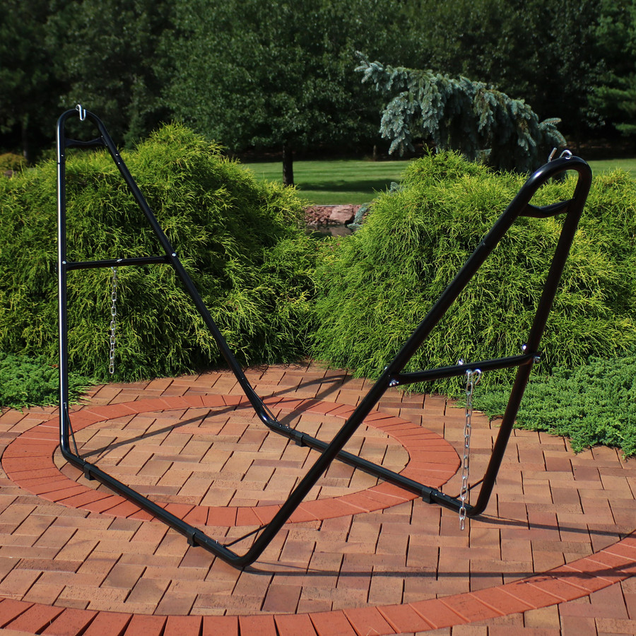 Universal Multi-Use Heavy-Duty Steel Hammock Stand, Black