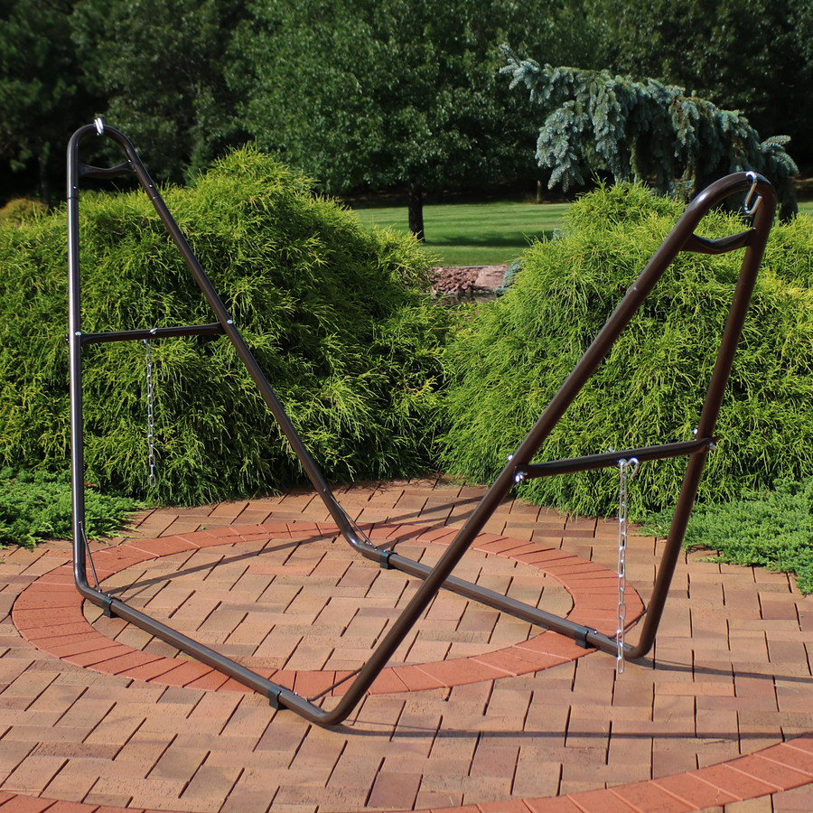 Universal Multi-Use Heavy-Duty Steel Hammock Stand, Bronze