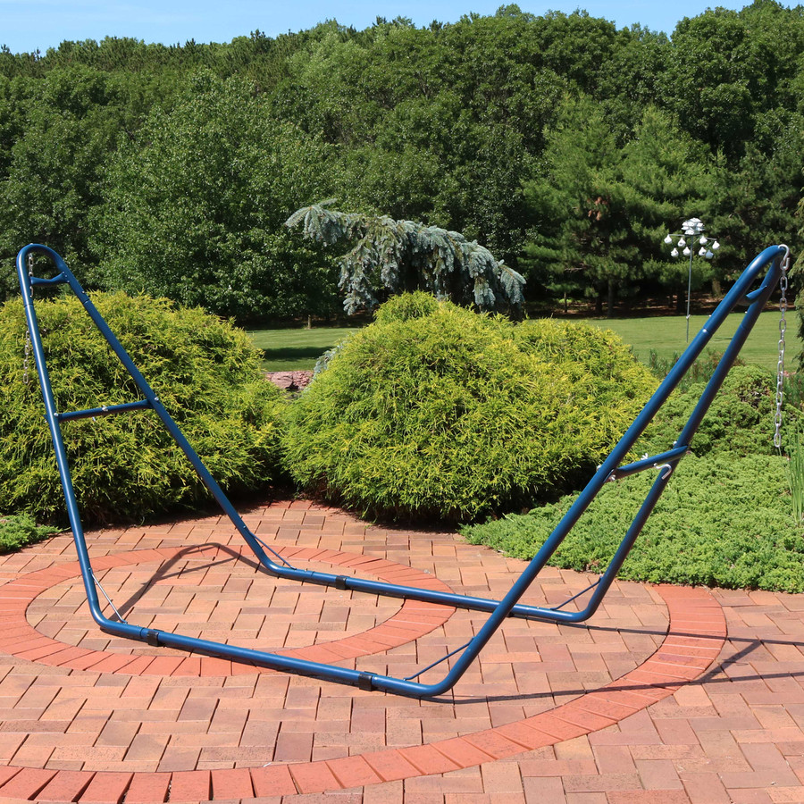 Universal Multi-Use Heavy-Duty Steel Hammock Stand, Blue