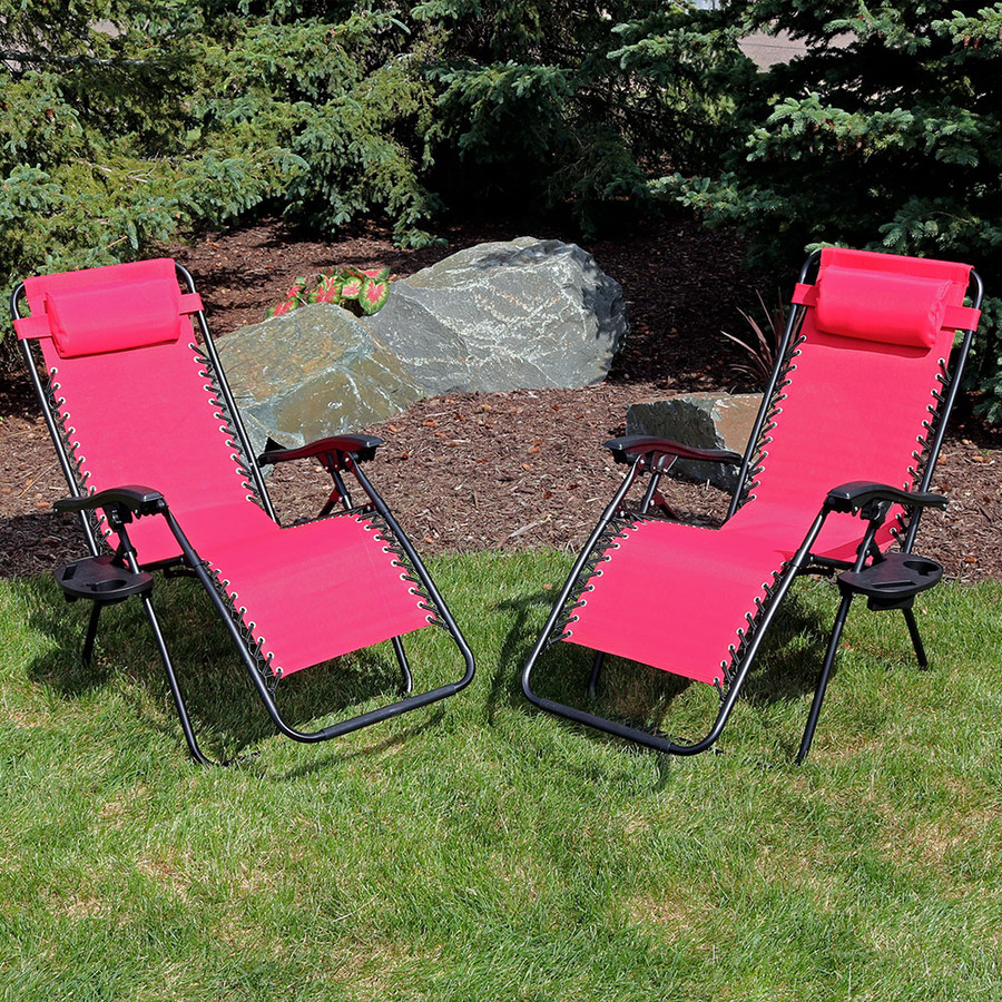 Red Set of 2 Outdoors