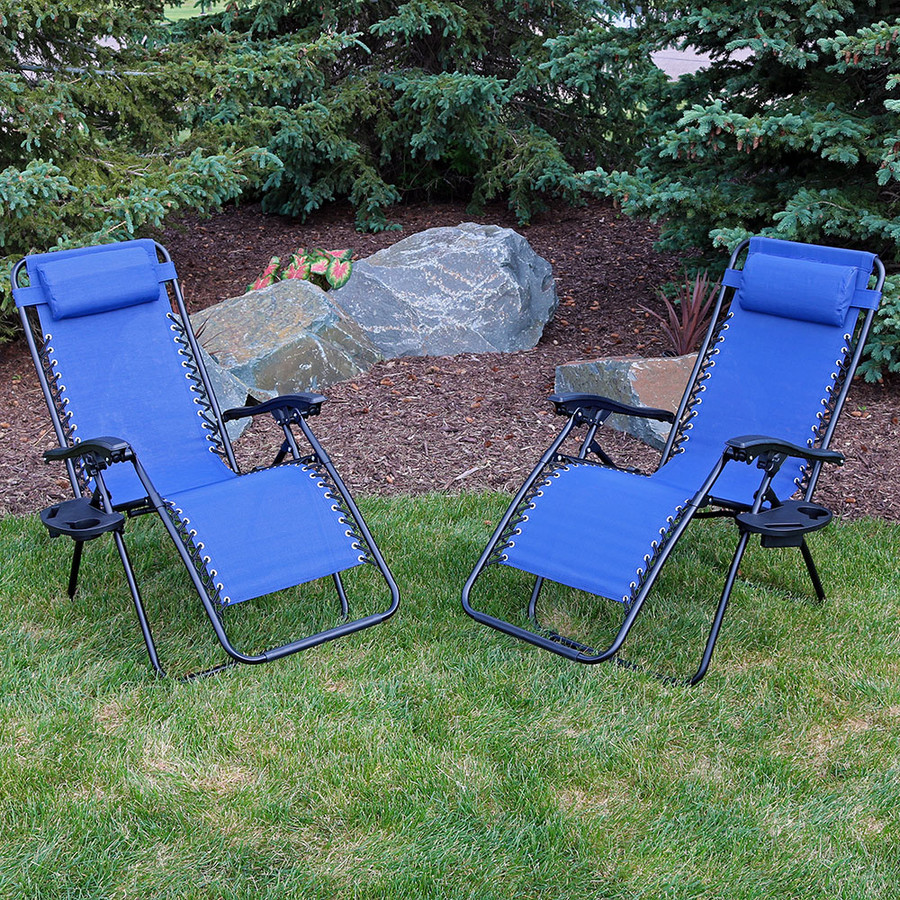 Navy Blue Set of 2 Outdoors