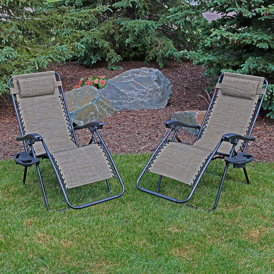 Brown Set of 2 Outdoors