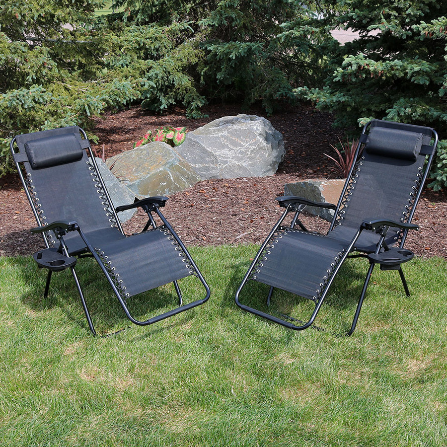 Black Set of 2 Outdoors
