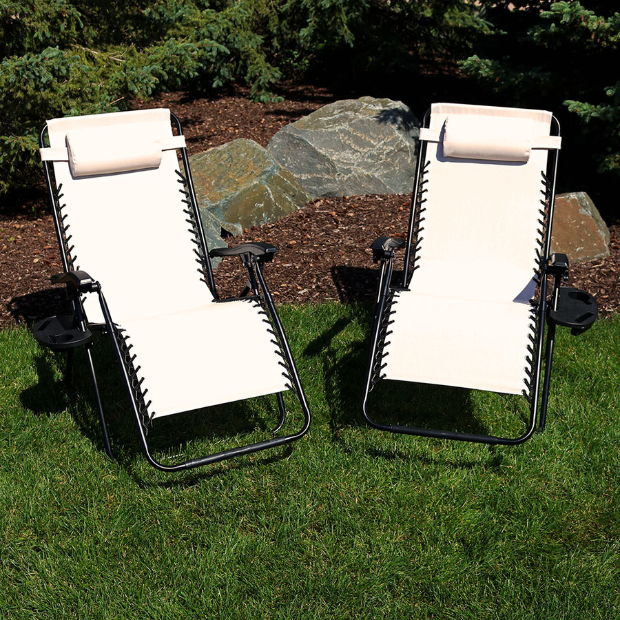 Beige Set of 2 Outdoors