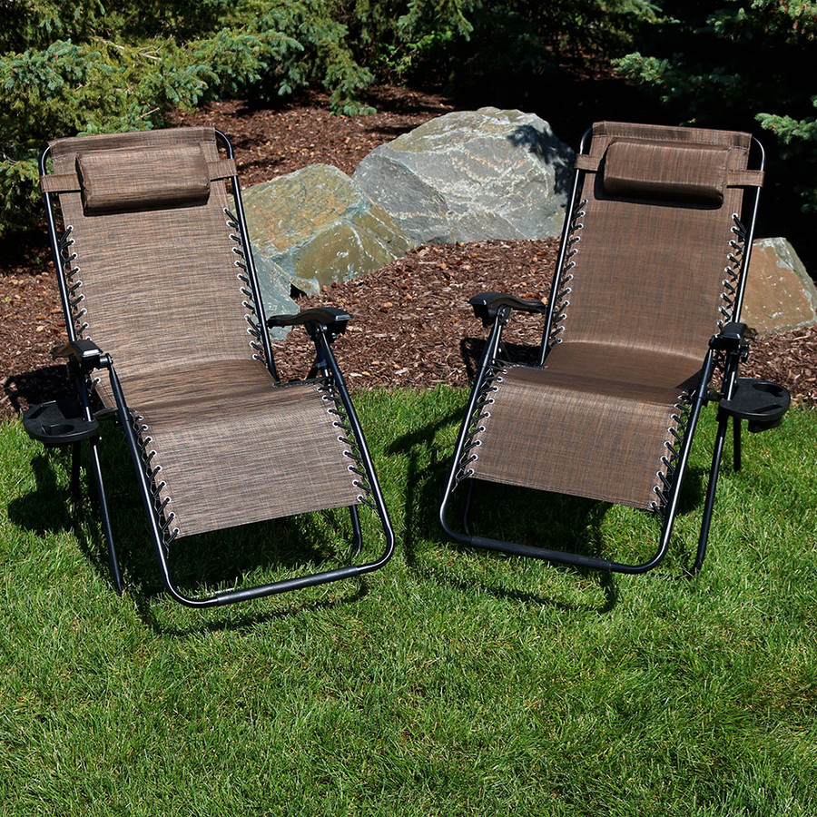 Dark Brown Set of 2 Outdoors
