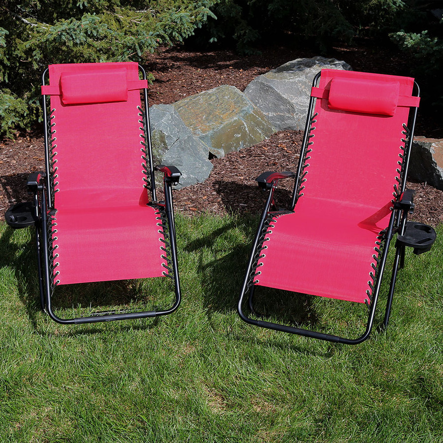 Red Set of 2 Outdoor
