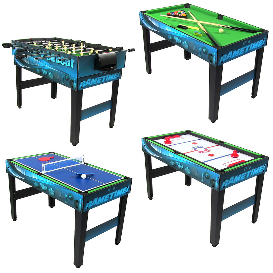 Showing Foosball, Table Tennis, Pool and Push Hockey