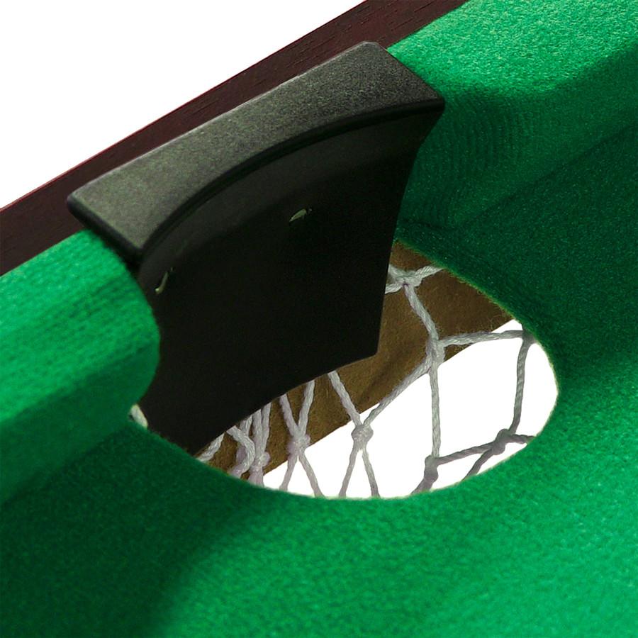 Closeup of Pool Table Pocket