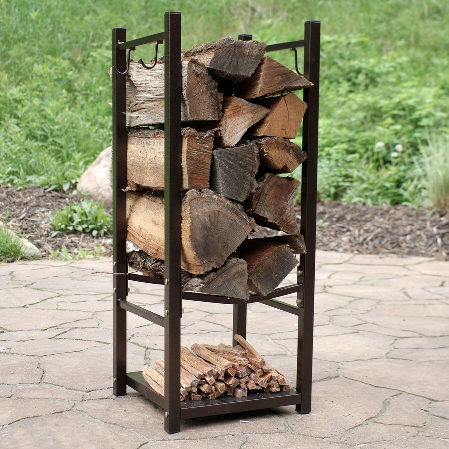 Bronze Outdoors with Logs