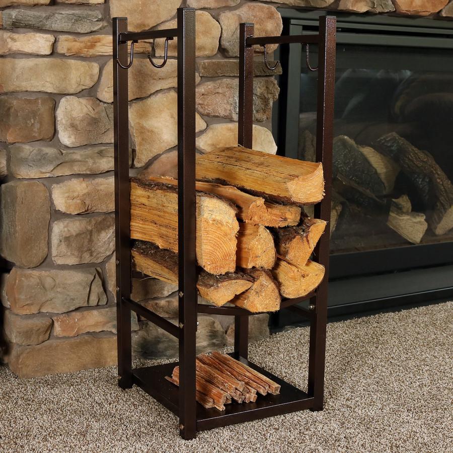 Bronze Indoors with Logs