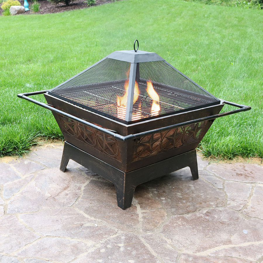 Square Northern Galaxy Fire Pit