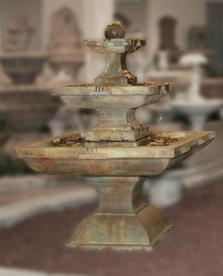 Henri Studio Cast Stone Tall Equinox Water Fountain